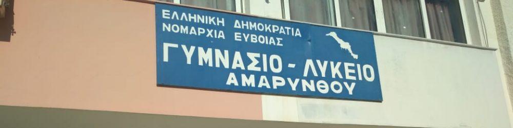 ΓΕΝΙΚΟ ΛΥΚΕΙΟ ΑΜΑΡΥΝΘΟΥ