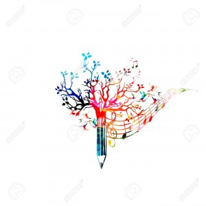 64461944-Colorful-pencil-tree-vector-illustration-with-music-notes-Design-for-creative-writing-storytelling-b-Stock-Vector