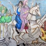 Απόδοση του «Νεκρού αδερφού» του ζωγράφου Γ. Χατζή από τον μαθητή Κωστή Νίκου