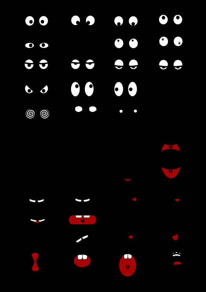 cartoon-mouth-n-eyes-NM44gH-clipart
