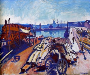1906 Albert Marquet Le Port de Fécamp