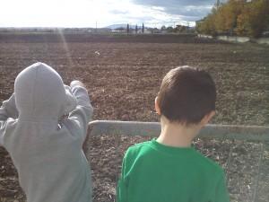 Οργωμένα χωράφια.
