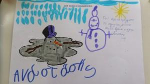 Γιατί έλιωσε ο χιονάνθρωπος;