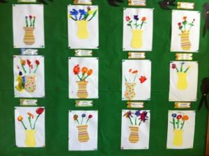 Λουλούδια με πινέλο