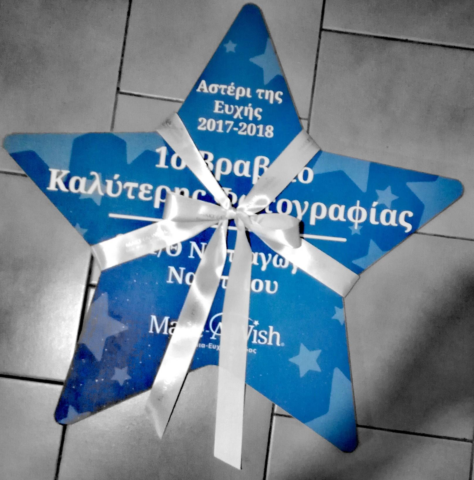 Το 6ο 1/θ Νηπιαγωγείο Ναυπλίου στηρίζει το Αστέρι της Ευχής και το 2018