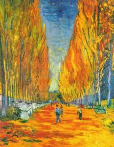 L'Allee des Alyscamps, Arles, 1888  του Vincent van Gogh (1853-90)