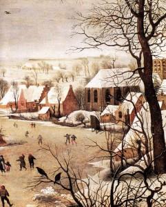 Pieter Bruegel ο Πρεσβύτερος, Χειμωνιάτικο τοπίο με σκέιτερ και μια παγίδα πουλιών, 1565
