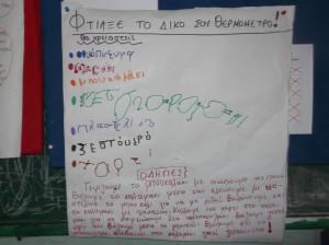 Γράψαμε την πορεία του πειράματός μας.