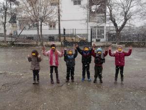 ...και τα χιονανθρωπάκια μιμηθήκαμε!