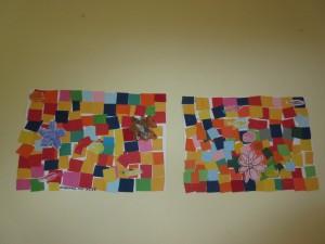 Επειδή όμως διαθέτουμε πλούσιο καλλιτεχνικό πνεύμα, δημιουργήσαμε αντίτυπα του μεγάλου ζωγράφου KLEE, με χρώματα και σχήματα. Τι λέτε τα καταφέραμε; Ναι.......