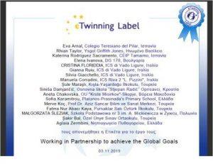 e-Twinning label