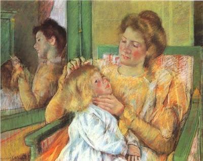 Mary Cassatt, «Μητἐρα που χτενίζει το παιδί της», 1879 [πηγή Brooklyn Museum of Art].jpg!