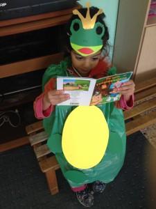 Ο πρίγκηπας βάτραχος διαβάζει