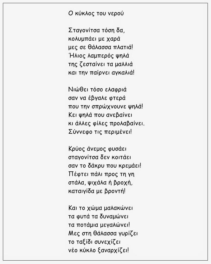 Ποίημα για τον κύκλο του νερού