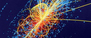 The simulation of a Higgs boson decaying