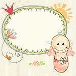 doodle-frame-with-baby-girl-seamless-background_200461802