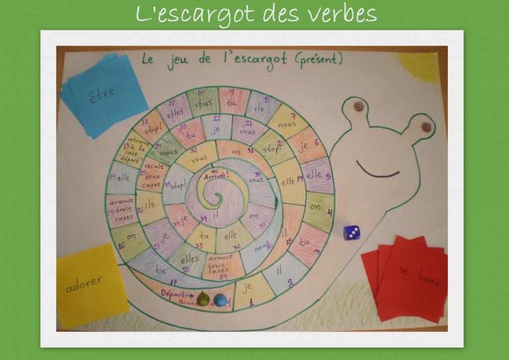 L'escargot des verbes!
