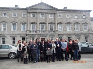 Irish Parliament, meeting Minister Flanagan