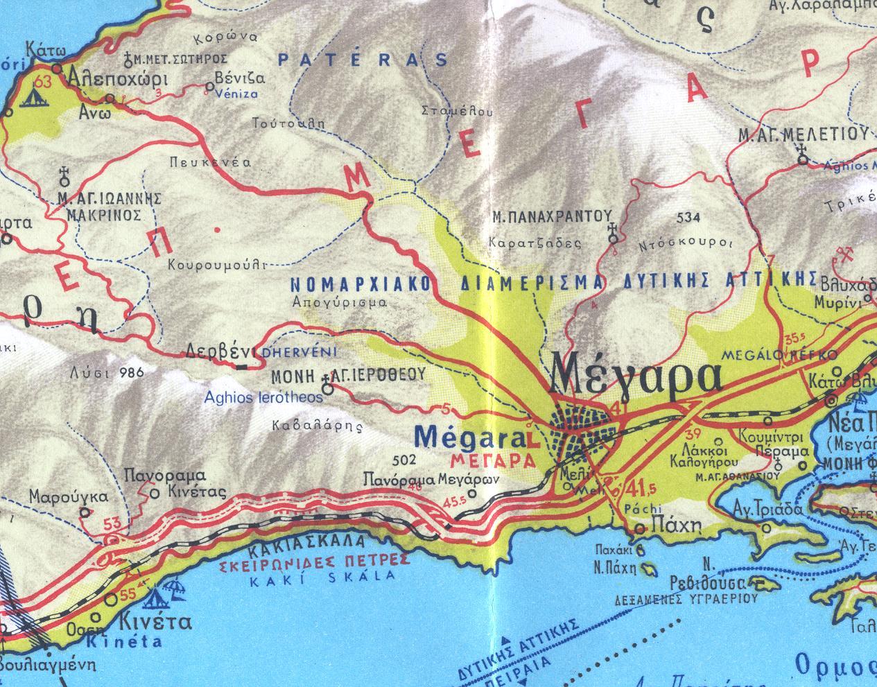 Χάρτης επαρχίας Μεγαρίδος