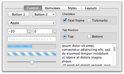 New QML controls