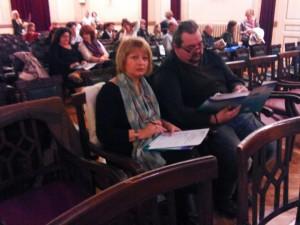 Σοφία Μεσίγκου και Μιχαήλ Ρέμπας στην αίθουσα του Συνεδρίου της ΠΕΦ
