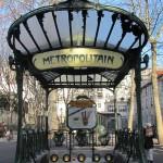 εισοδος μετρο στο Παρίσι Abbesses