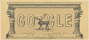 To doodle της Google για την 120η επέτειο των πρώτων σύγχρονων ολυμπιακών αγώνων
