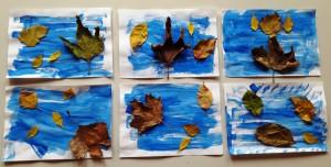 Ο αέρας φυσάει τα φθινοπωρινά φύλλα