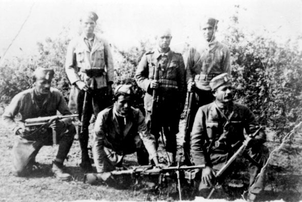 """Bourinos' independent platoon"" of the ΕLAS, Kesaria September  1943"