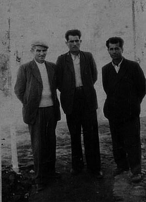 Αντάρτες και πολιτικοί Αθανάσιος Λίτσιος από Λευκοπηγή, Γεώργιος Κοκόνας από Αιανή, Θωμάς Καρατζέτζος από Κρόκο
