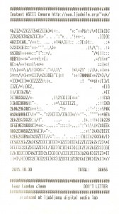 Φωτογραφία τραβηγμένη με κάμερα ASCII
