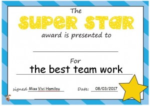 Award for the best team work!
